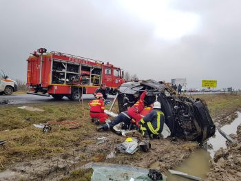 accident satu mare 350x263 Accident grav pe E81, cu doi soferi incarcerati – unul dintre ei a murit