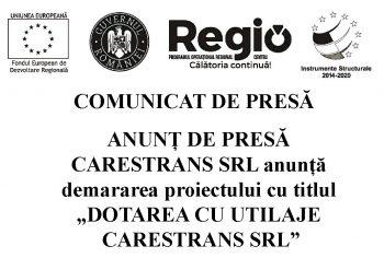 """home caretrans 350x236 ANUNȚ DE PRESĂ CARESTRANS SRL anunță demararea proiectului cu titlul """"DOTAREA CU UTILAJE CARESTRANS SRL"""""""