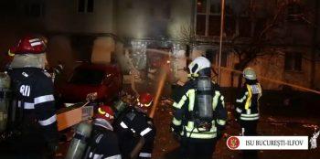 incend 1 350x174 Explozie si incendiu la un restaurant din Capitala. Efectele, surprinse in imagini
