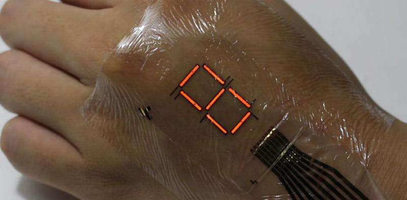 japonez Sci Tech: ecranul care se lipeste pe piele