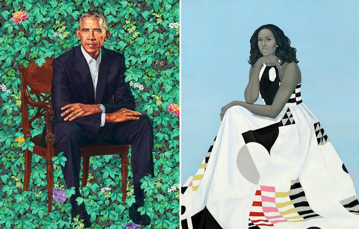portrete Sotii Obama au ajuns piese de muzeu