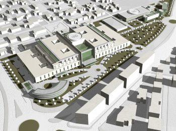 MAcheta Spital IA Vasile cel Mare 350x261 Comisia de Urbanism a PMB a avizat favorabil PUZ ul in cazul Spitalului Sf. Vasile cel Mare