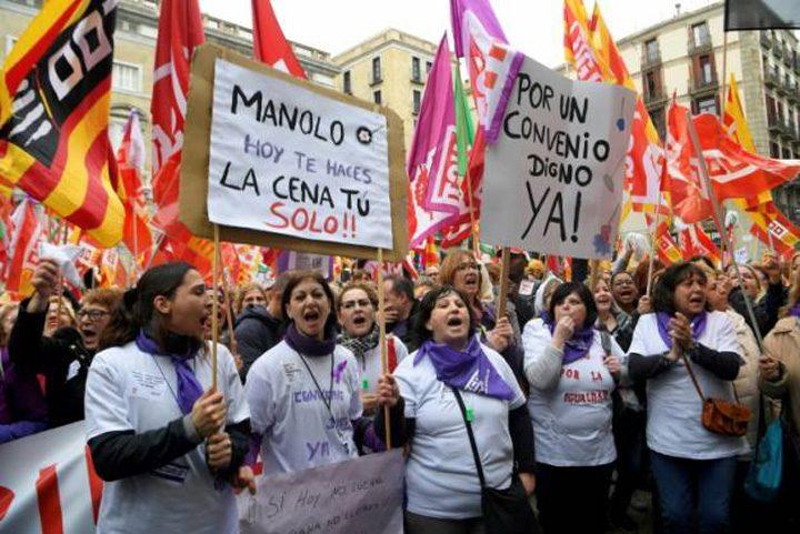 greva 720x481 Greva feminista in Spania