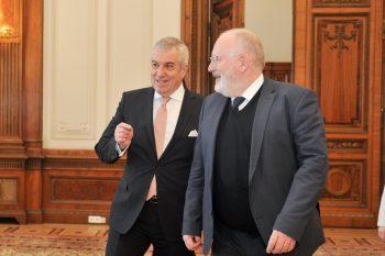 intrevedere 350x233 Prim vicepresedintele Comisiei Europenea discutat cu Dragnea si Tariceanu. Urmeaza intrevederi cu Iohannis, Dancila si Toader