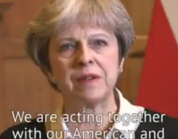 anunt 2 350x273 SUA, Franta si Marea Britanie au atacat tinte din Siria. Reactii (VIDEO)