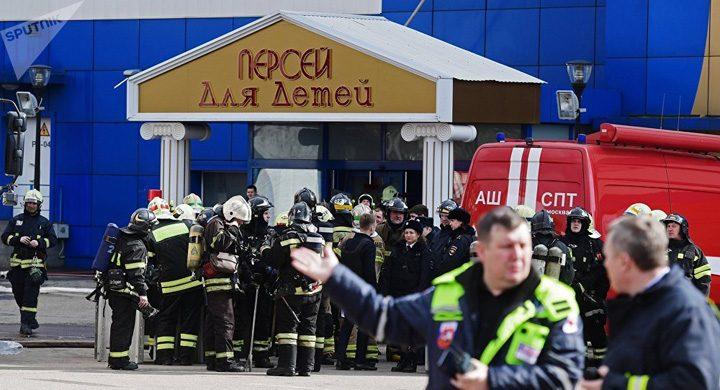 foc 720x390 Incendiu la un mall din Moscova