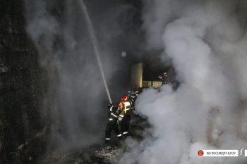 incendiu casa 350x233 Incendiu puternic in Capitala, de Pasti