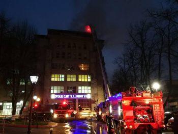 incendiu spital 350x263 Incendiu puternic la un spital din Iasi: pacienti evacuati, angajat pe mana medicilor