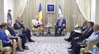 intrevedere 350x191 Dragnea, alaturi de Dancila la intrevederea cu presedintele israelian. S a vorbit de mutarea ambasadei