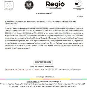 "macheta bun 291x300 COMUNICAT DE PRESĂBENY VIDRACONS SRL anunta demarararea proiectului cu titlul ""Dezvoltarea activitatii la SC BENY VIDRACONS SRL"""