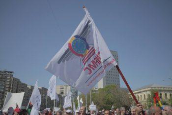 prot 350x233 Nou protest la sediul MT. Feroviarii, in strada chiar de ziua lor