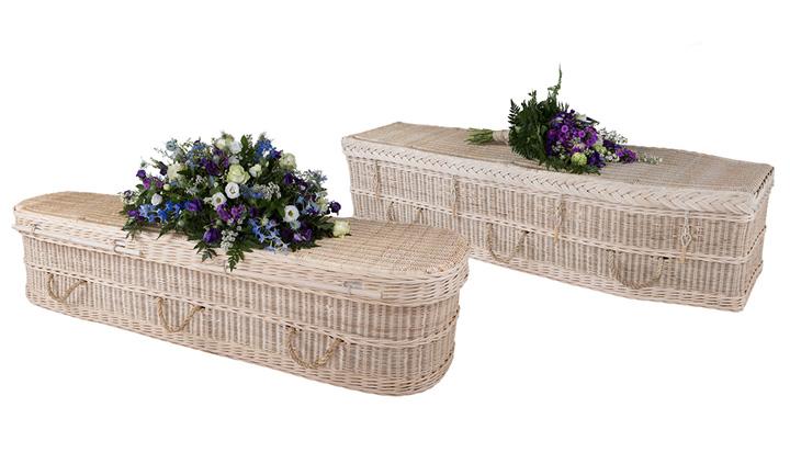 Cane coffin shapes Trend nou in funerare: sicrie biodegradabile