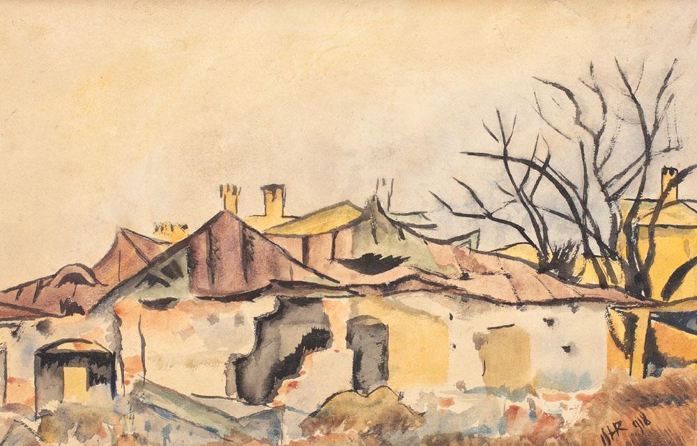 Iosif Iser Case vechi din București Bucureştiul văzut de marii pictori ai României