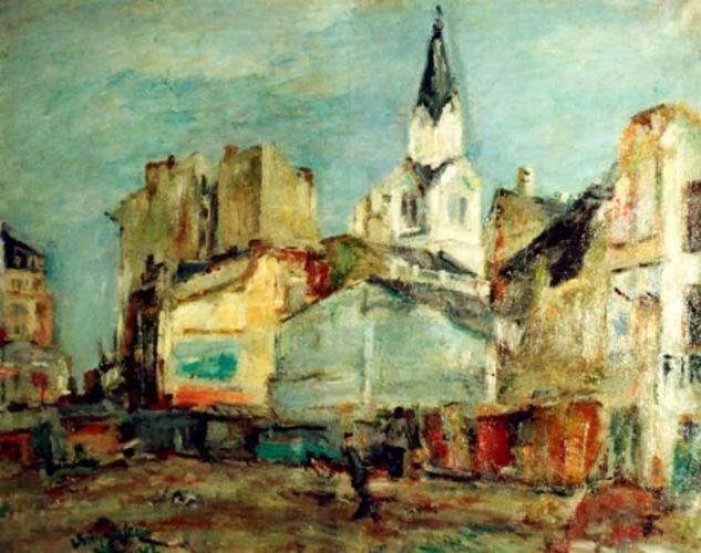Piata Sfantul Gheorghe Bărăţia lucian Grigorescu Bucureştiul văzut de marii pictori ai României