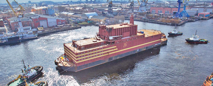 centrala mare Rusia a lansat primul Cernobal plutitor