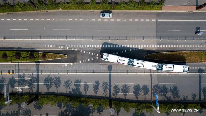 china Primul autobuz tren autonom