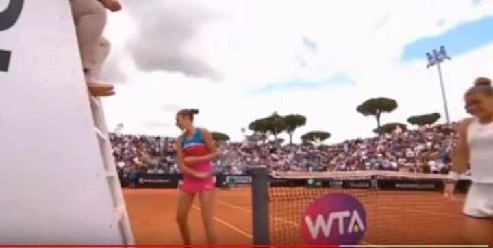 incid 1 720x363 Imagini surprinzatoare: Iesire nervoasa a unei jucatoare de top, la turneul de la Roma (VIDEO)
