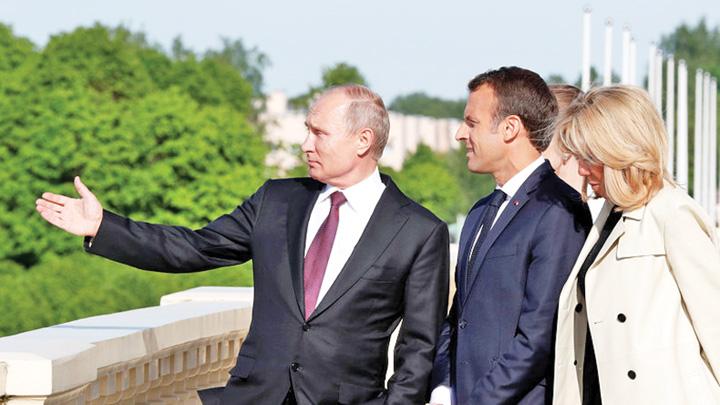 macron Slabe sanse pentru Macron in fata lui Putin