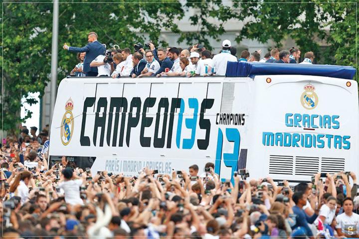 madrid 1 Spectacol la Madrid, dupa ce Real a castigat Champions League