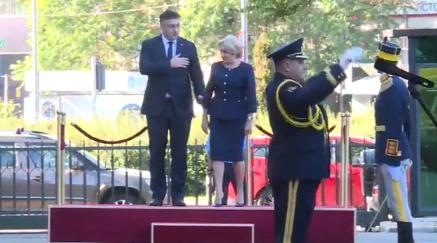 premieri Dancila, pas gresit la intampinarea omologului croat, la Palatul Victoria (VIDEO)