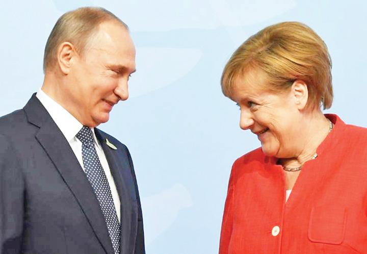 putin merkel Merkel se intoarce la Putin