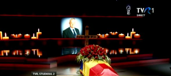 reculegere Ultim omagiu pentru Cristian Topescu. Sicriul, depus la TVR