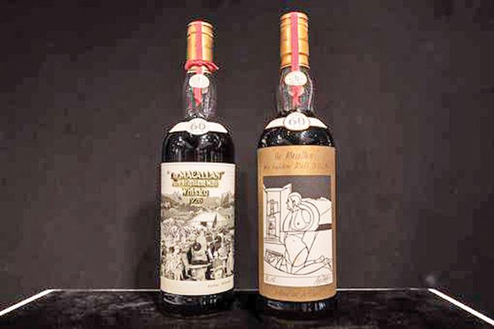 sticle whisky Doua sticle de whisky, vandute cu doua milioane de dolari