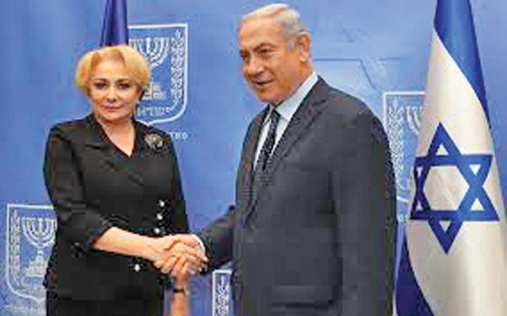 dancila netanyahu Netanyahu o calca pe Dancila