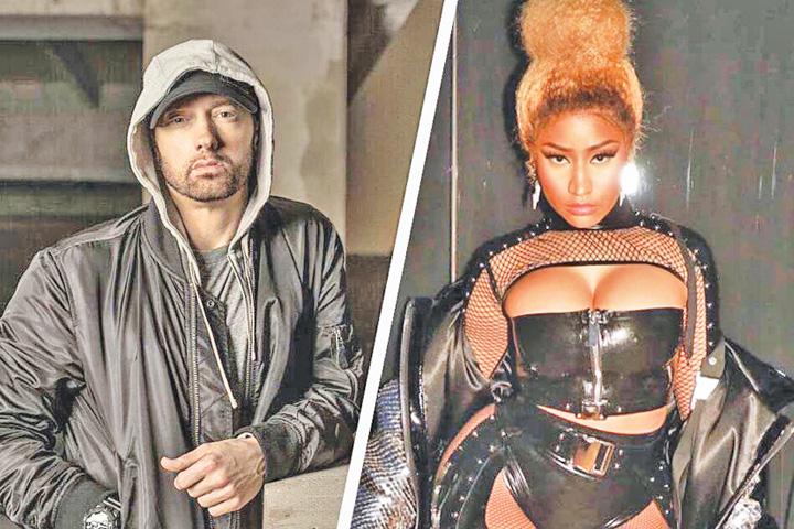 eminem Eminem s a cuplat cu Nicki  Minaj