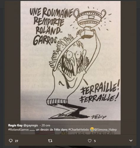 mesaj 1 474x500 Cum s a vazut in Charlie Hebdo victoria Simonei la Roland Garros