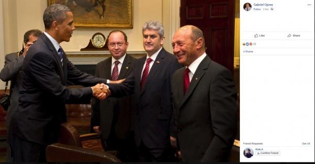 poza 1 Cum e cu poza cu Oprea si Obama/Ce explicatie da fostul vicepremier si cum comenteaza Basescu