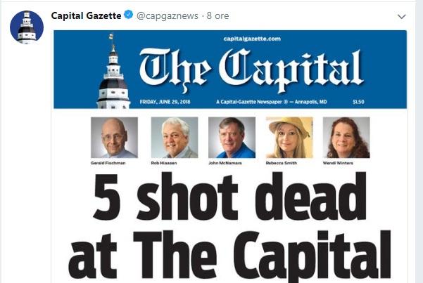 prima Ce au decis sa faca jurnalistii ziarului american, dupa atacul de la redactie, soldat cu 5 morti