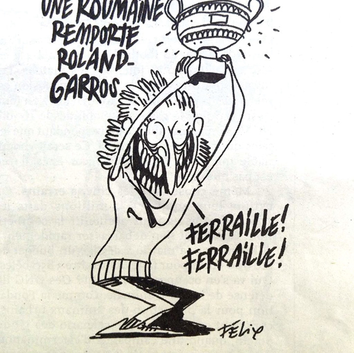 simona 1 1 Halep, batjocorita de Charlie Hebdo
