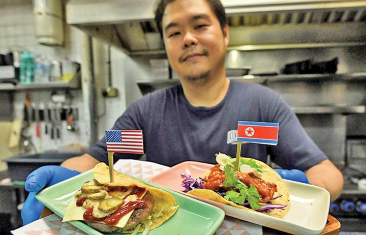 "singapore Cocktailuri ""Bromance"" si taco ""El Trumpo"""
