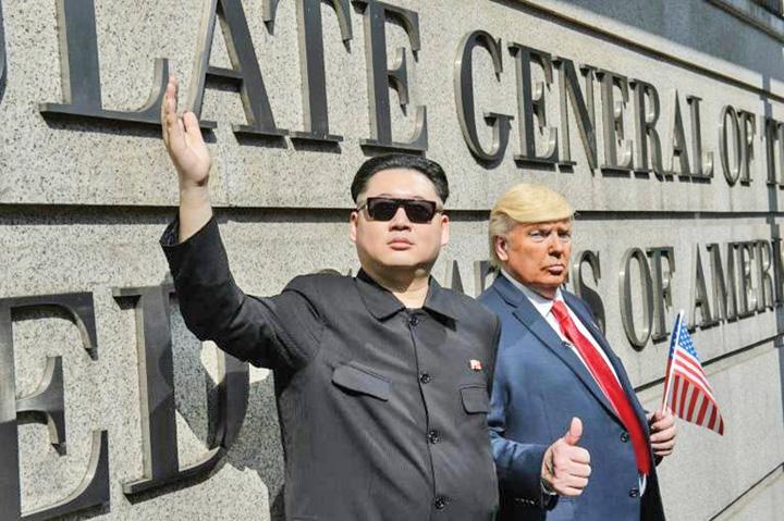 sosii Trump si Kim, pe insula Pulau