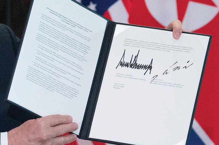 trump si kim Ce transmit semnaturile lui Trump si lui Kim?