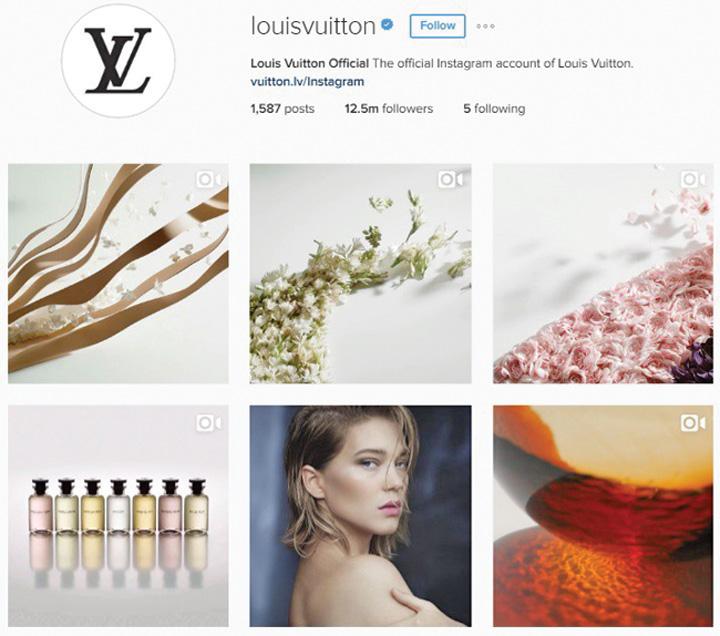 vuitton instagram Marile branduri fashion pariaza pe Instagram