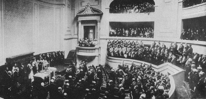 FOTO2 Inaugurarea din 1914 720x346 Biblioteca Centrală Universitară, cadoul regesc făcut de un rege (I)