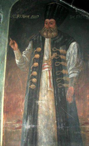 Grigore Dimitrie Ghica IV pictura biserica Teiul Doamnei 305x500 Biserica Teiul Doamnei, ctitorie a lui Vodă Ghica
