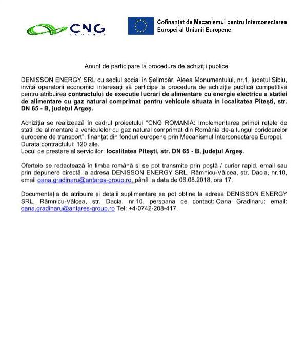 anunt 1 1 Anunț de participare la procedura de achiziții publice