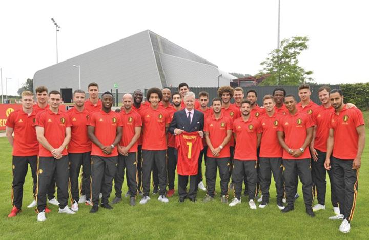 belgia Regele Belgiei si presedintele Frantei, suporteri la semifinala de la Sankt Petersburg