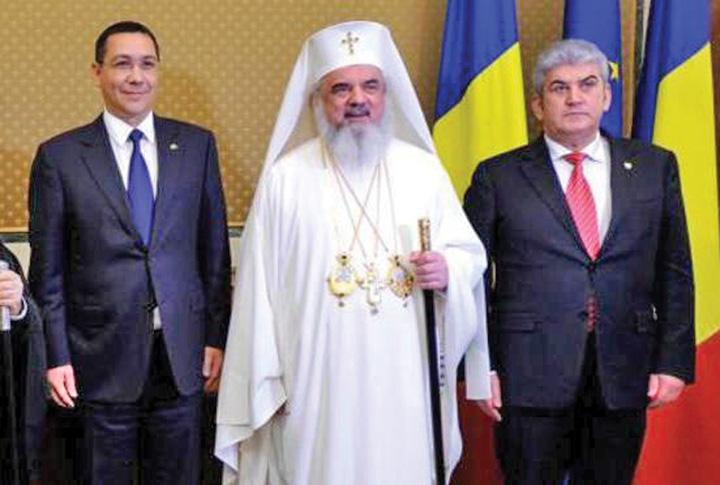 cap patriarh Ponta si Oprea, protocol secret cu Patriarhul!