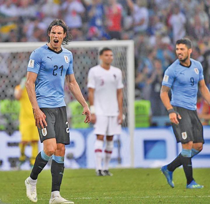 "cavani Uruguay, ""forta colectiva"""