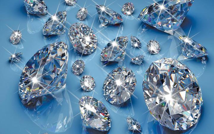 diamante Stam pe miliarde de tone de diamante