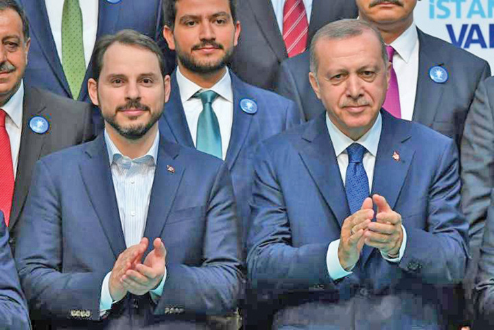 erdogan ginere Erdogan si a pus ginerele la Finante