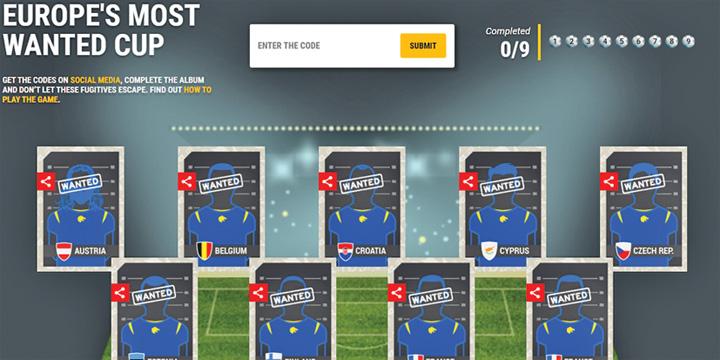 europol 1 Echipa de fotbal Most Wanted