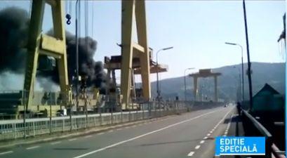 incend Incendiu la Portile de Fier, dupa ce un transformator a luat foc