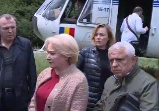 ministri Dancila, cu ministrii in zonele inundate