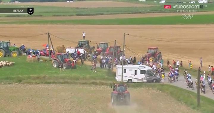 protest 1 Turul Frantei, pus pe pauza de fermieri