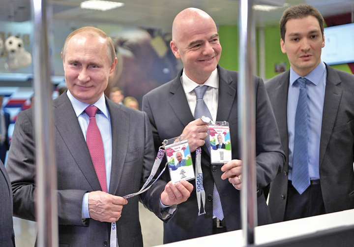 putin medalion Putin, campionul Mondialului
